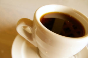 close up of coffee and cup